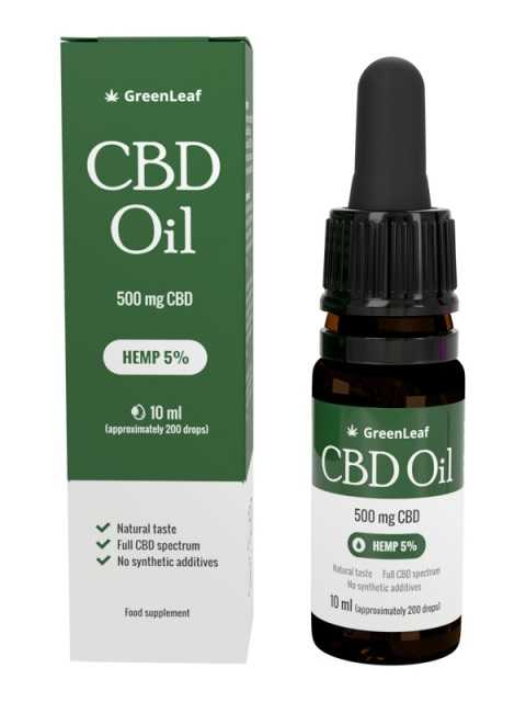 GreenLeaf CBD Oil -olejek z konopi ᐅ #Zamów online#
